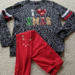 Girls ugly sweater outfit